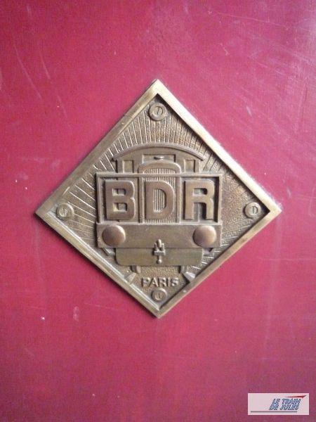 Plaque locotracteur BDR...