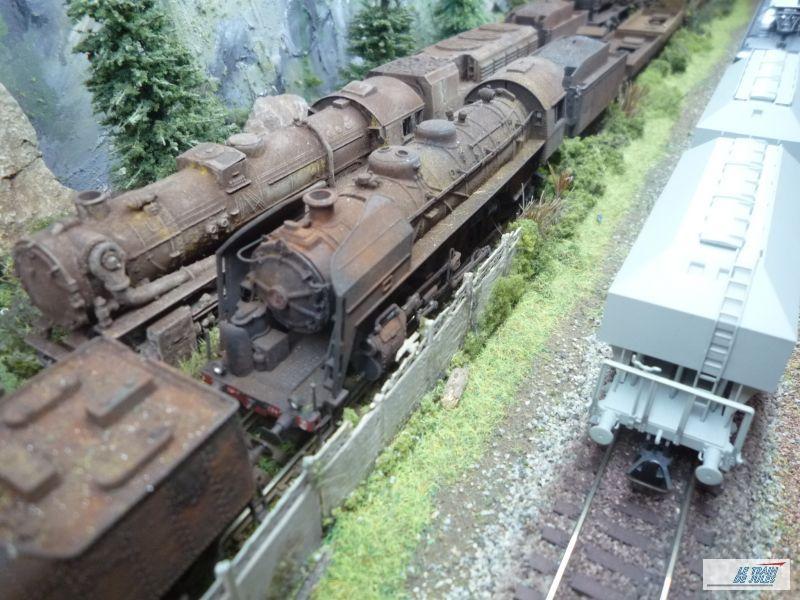 Locos-vapeur à la ferraille par le club MCK du Relecq-Kerhuon dans le finistère.
