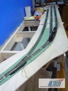 les 3 voies de garage de la gare souterraine.