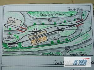 Plan de la gare de St Antonin.