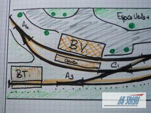 Plan de la gare de Villeneuve sur Vère