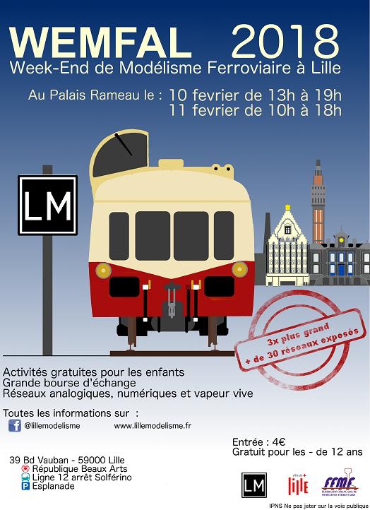 Affiche wemfal 2018 à Lille