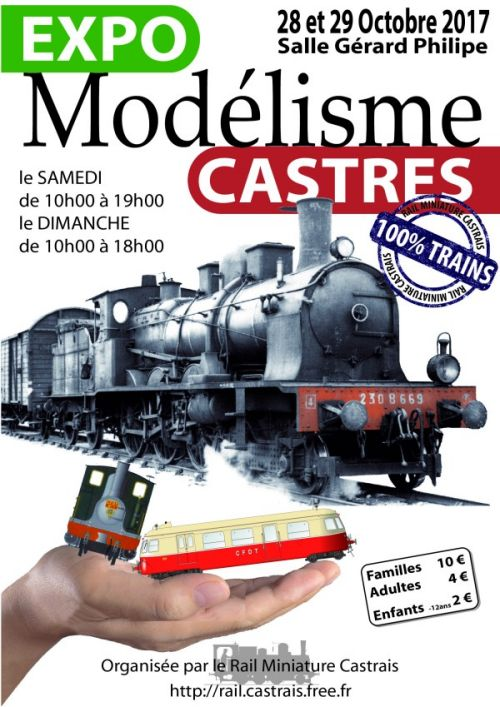 Affiche expo trains Castres