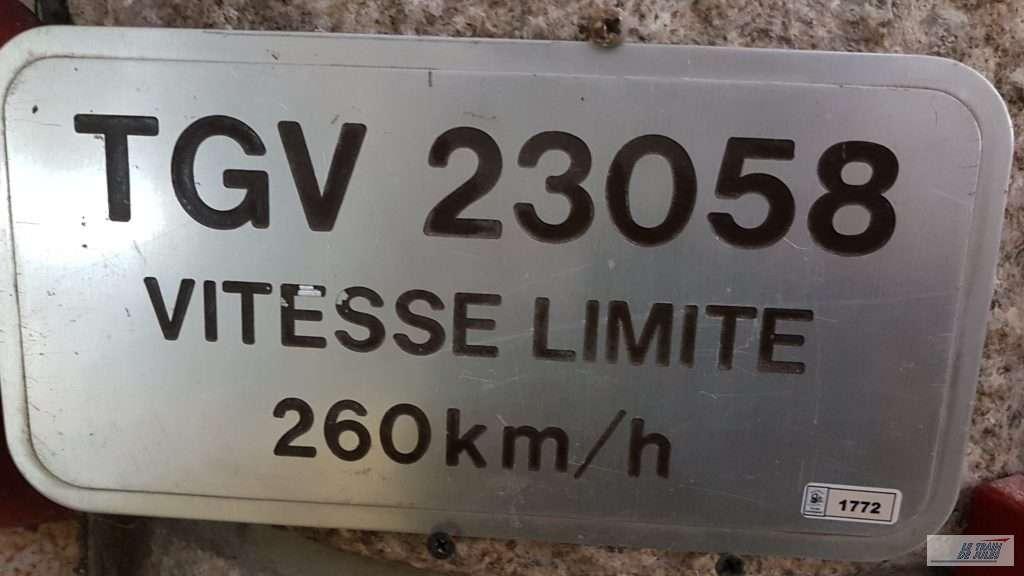 Musée du rail de Dinan - Plaque TGV