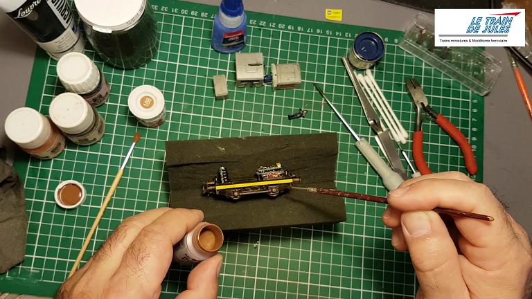Peinture en rouille des flancs