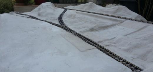Module 1 relief HO en bandes de platre