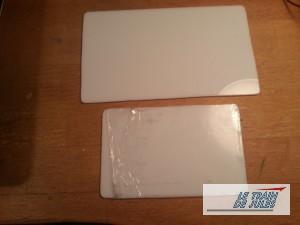 Plaques plexiglass blanche.