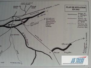 Le Pallet / Vallet - La ligne du petit train du Muscadet.