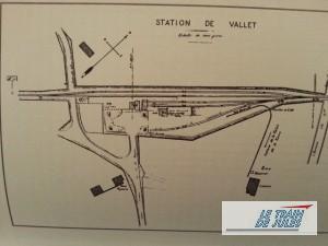Gare de Vallet - Partie de gauche de l'arrivée du petit train du Muscadet.