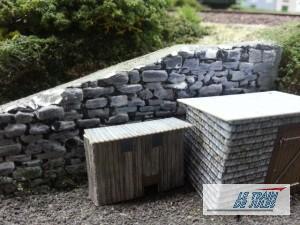 Mur de soutainement accès aux jardins.