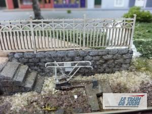 Mur de soutient pour accéder au saxby.