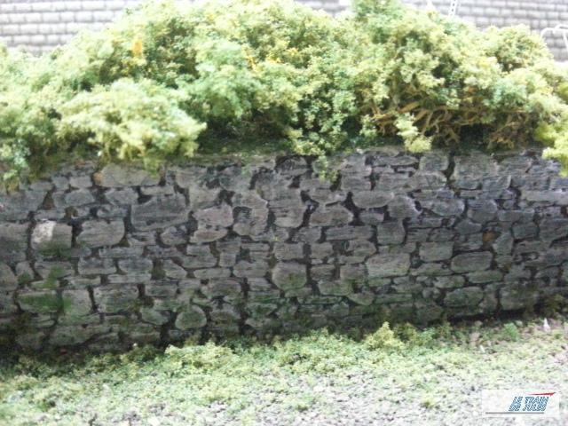 Mur de jardin.