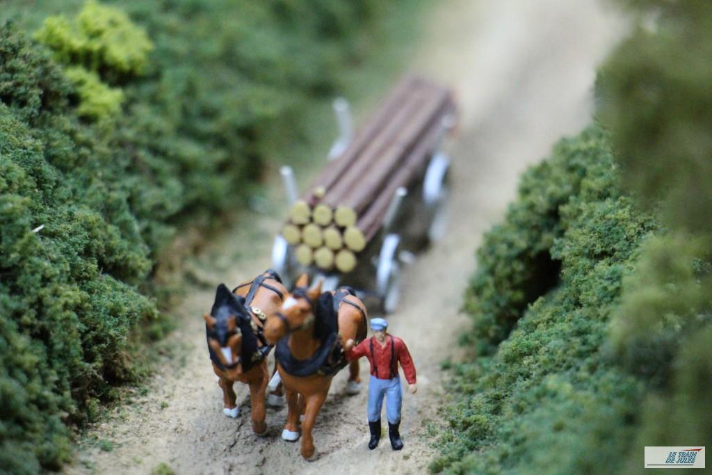 Voiture à chevaux Preiser.