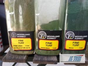 Flocage Woodland Scénics.