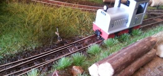 Levier d'aiguille et locotracteur minitrains.