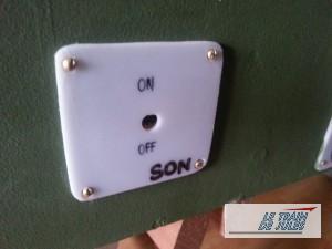 Plaque pour l'interrupteur son du module sonore Loco-DigiLab.