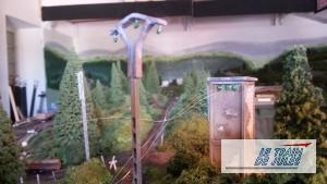 Transfo + lignes electrique réseau électrique Ho