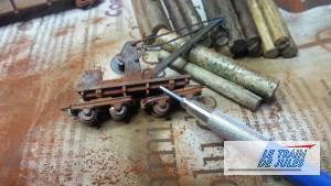 Patine matériel metallique avec la pointe graphite.