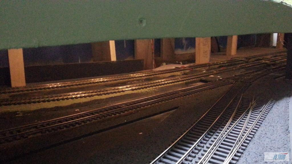 Eclairage leds de la gare souterraine