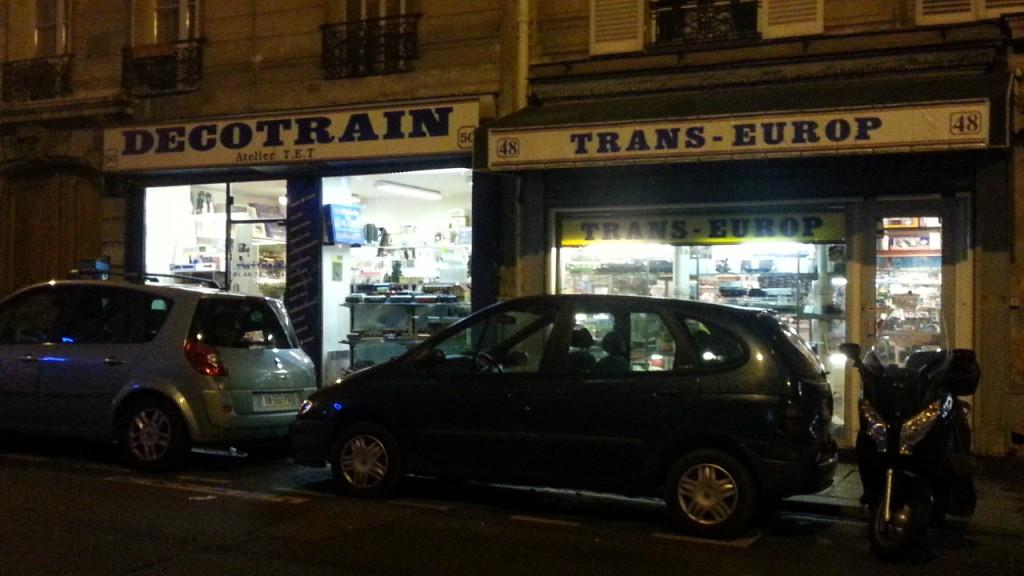 Magasin de trains miniatures à Paris