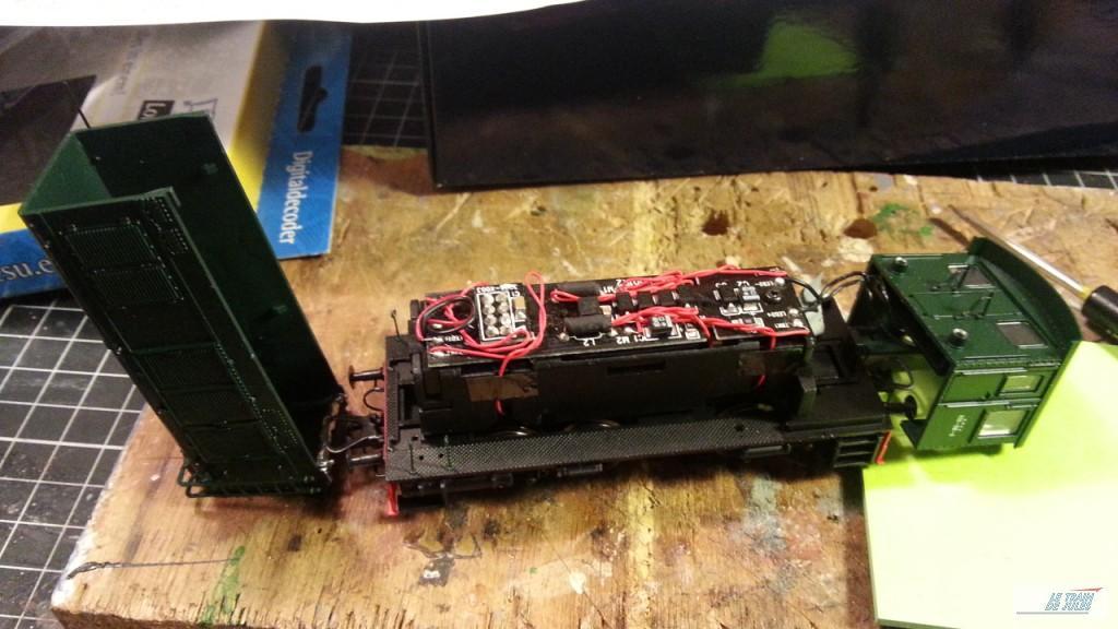 Locotracteur 030 db 6 Electrotren, le circuit imprimé.