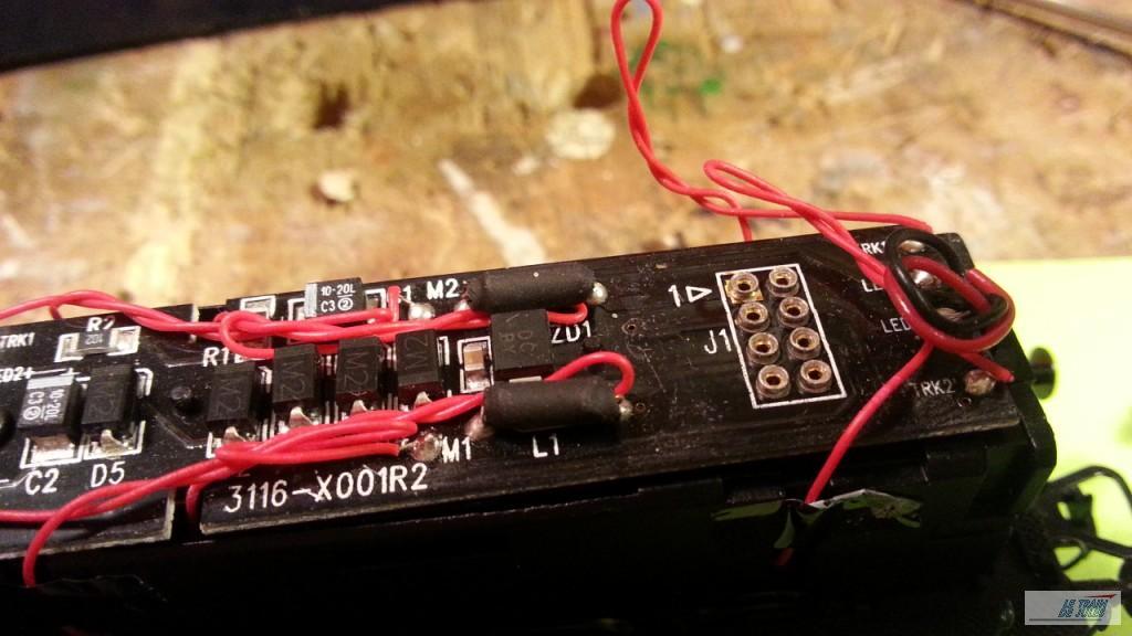 Les 8 plots pour mettre en place le décodeur.