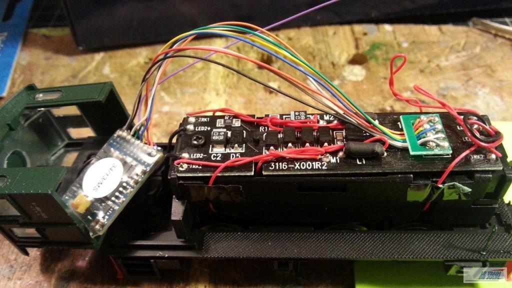 Locotracteur 030 db 6 Electrotren. décodeur en place.