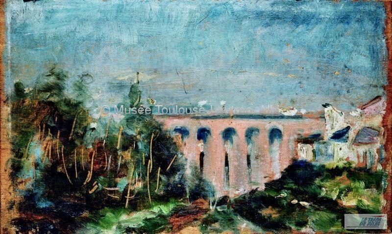 Le viaduc Ferroviaire d'Albi par Henri de Toulouse Lautrec. i