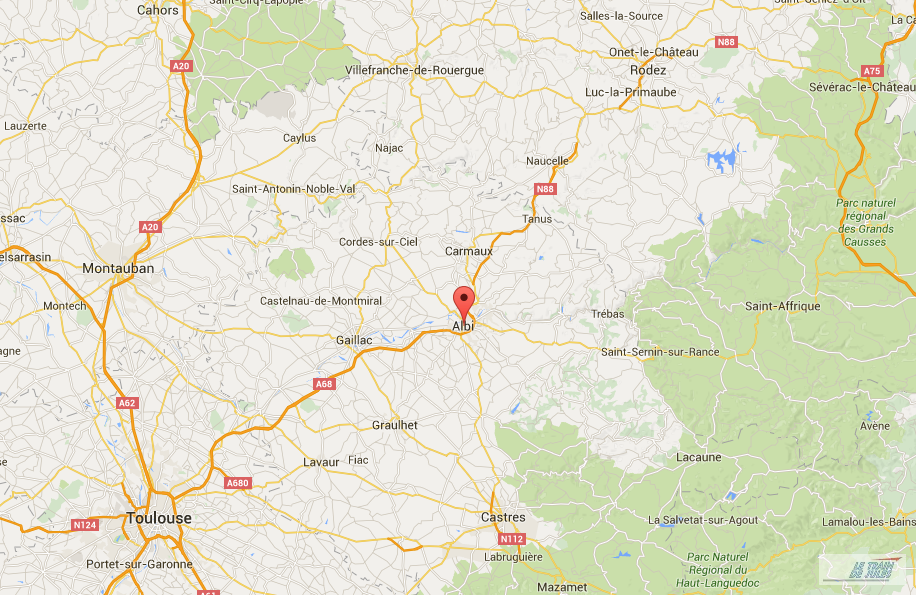 Albi sur Google Map.