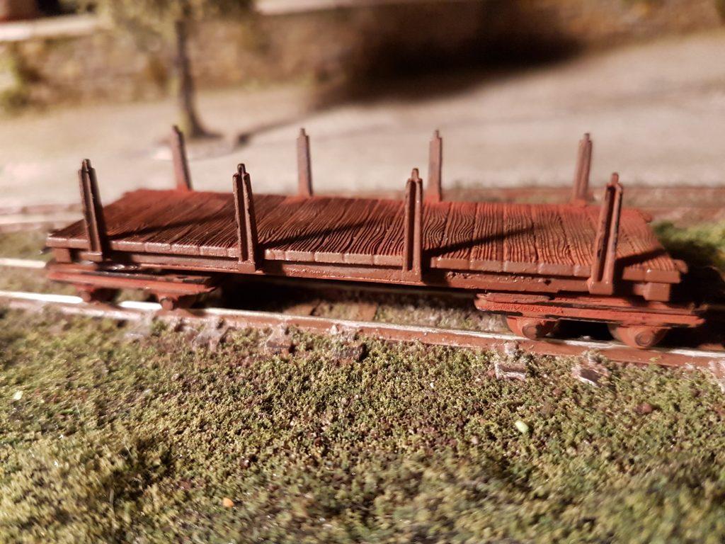 Un wagon Hoe sur la voie