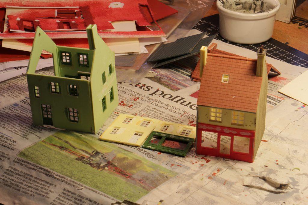 Maison désassemblées.