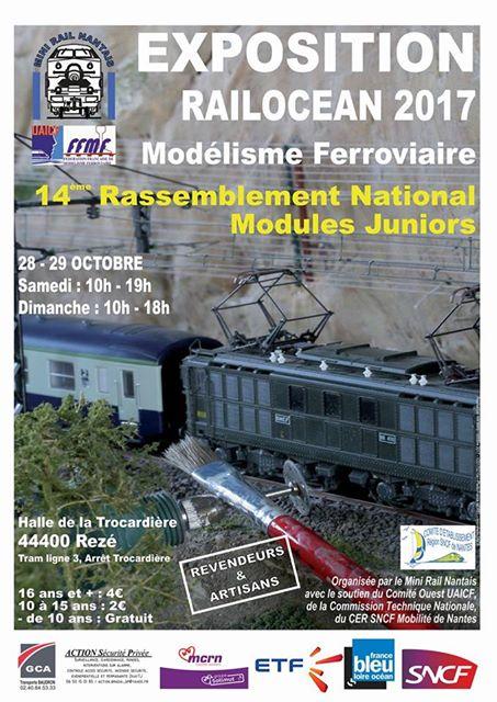 Affiche expo Minirail Nantais