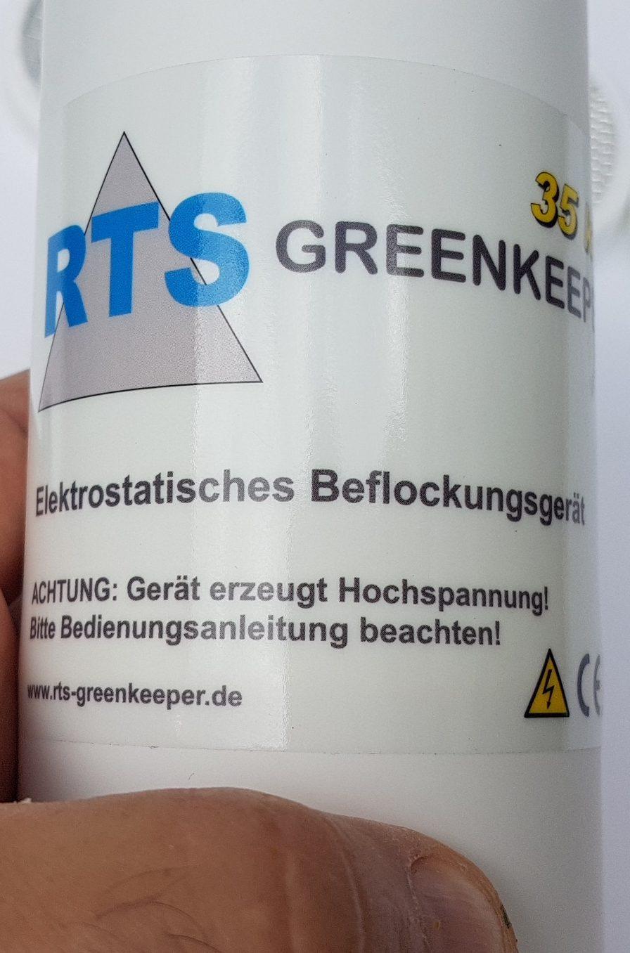 RTS GREENKEEPER 35 kV Set elektrostatisches Beflockungsgerät