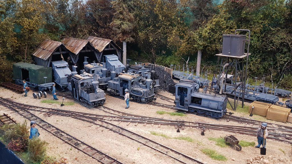 Dépot de locomotives sur le front 1915 - 1917.
